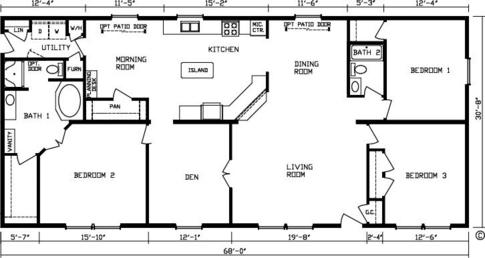 Plan For 23 Feet By 45 Feet Plot  Plot Size 115Square Yards  Plan Code 1456 likewise Plan For 23 Feet By 45 Feet Plot  Plot Size 115Square Yards  Plan Code 1456 together with Floor Plan 4 Bedroom 4 Bath No Window together with Professional Building Systems Somerset II together with Cb7f2857a8694351 Large Single Story Log Homes Single Story Log Home Floor Plans. on single wide homes