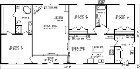 Double Wide Mobile Homes besides 24 X 48 Double Wide Homes Floor Plans besides Single Wide Floorplans furthermore The Mulberry Modular Home Floor Plan Jacobsen Homes furthermore North Carolina World. on single wide mobile home floor plans