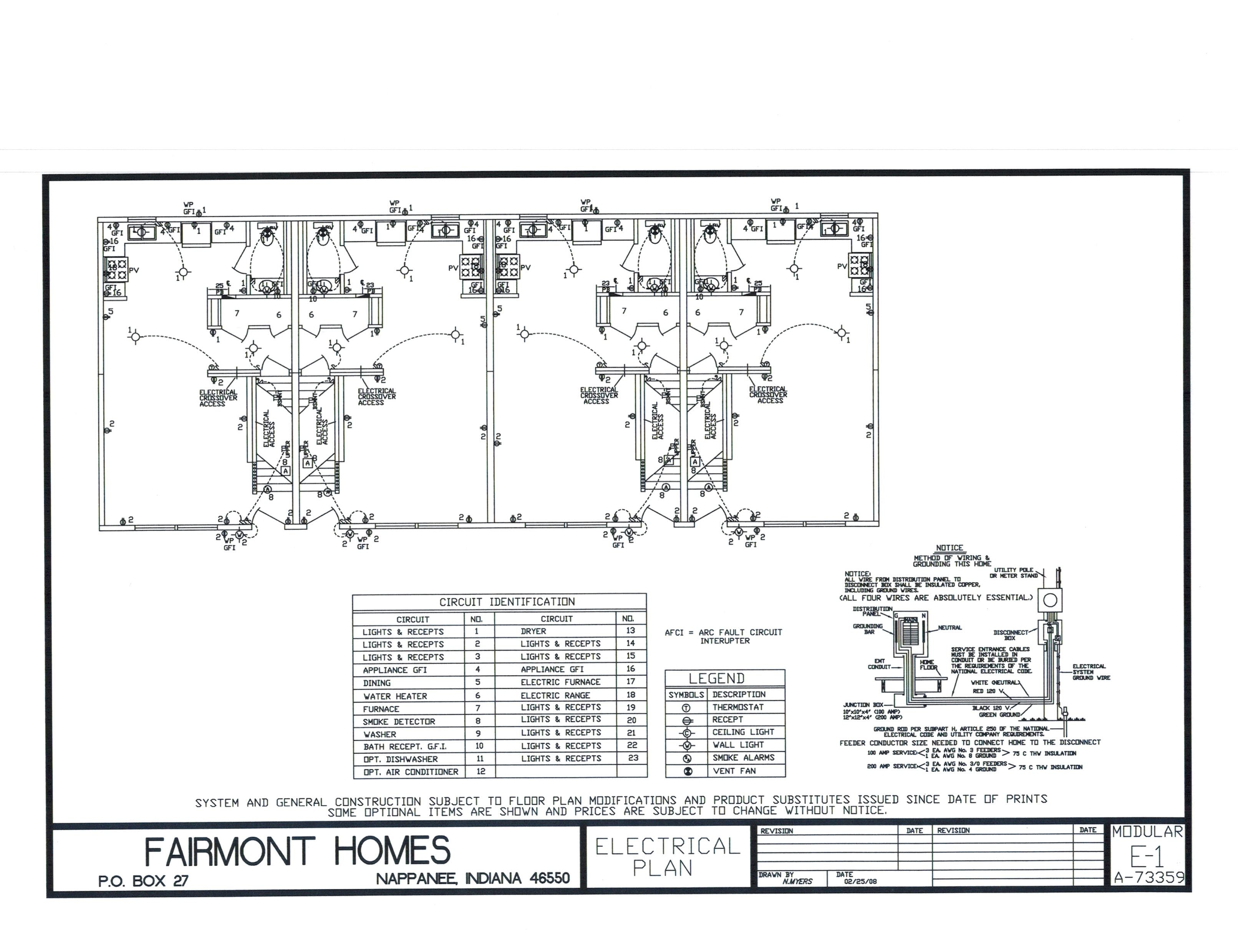 Electric schematic fairmont fourplexes Basic Electrical Wiring Diagrams at edmiracle.co