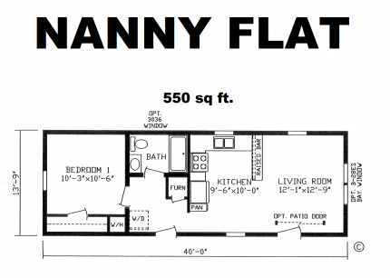 nanny flatbed floorplan